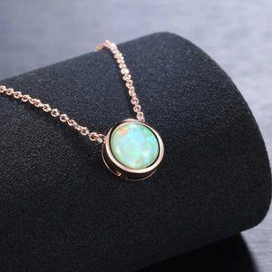 Opal Pendant Necklace